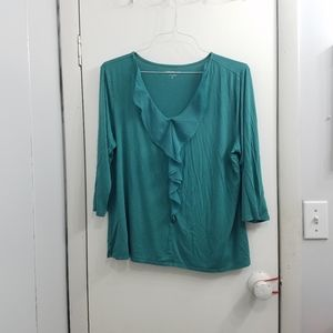 Coldwater creek womens green top size xl